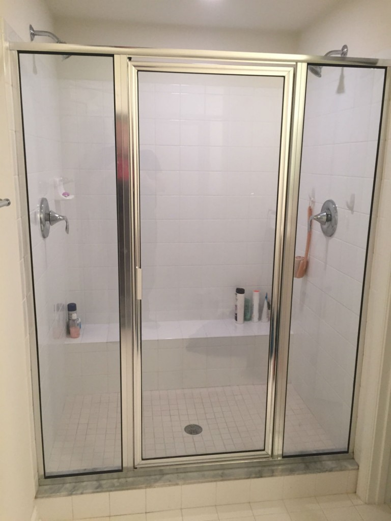 Before Amp After Framed Vs Frameless Shower Door